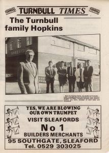 Sleaford Target Newspaper Feature 1987 on Turnbull