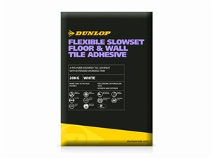 Dunlop Flexible Slowest Floor and Wall Adhesive 20kg [White]