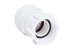 JG Speedfit Female Coupler Tap Connector 22mm x 3/4in [White]