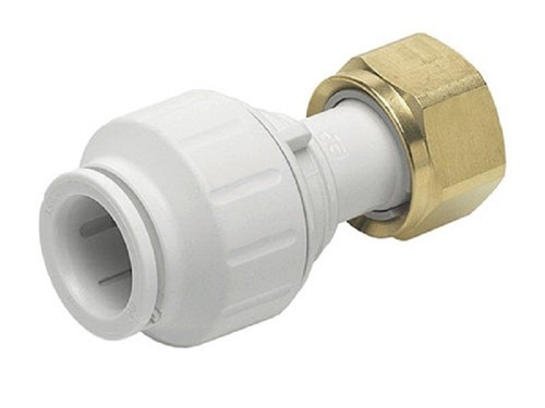 JG Speedfit Straight Tap Connector 15mm x 1/2in [White]