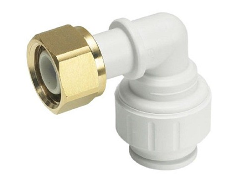 JG Speedfit Bent Tap Connector White [15mm x 1/2in]