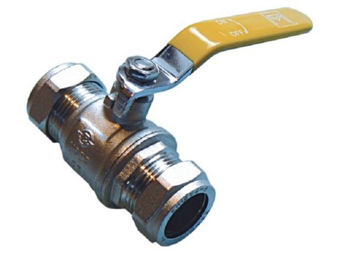 Compression QLC Yellow Level Action Ball Valve 15mm