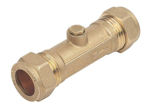 DZR Brass Double Check Valve 22mm