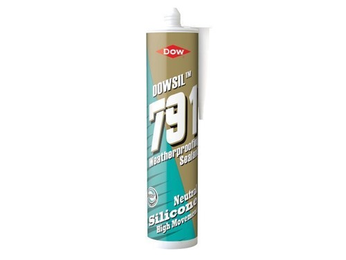 Dowsil Weatherproofing Neutral Silicone Sealant 310ml 791 [Black]