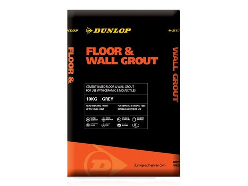 Dunlop Floor and Wall Tile Grout 10kg [Grey]
