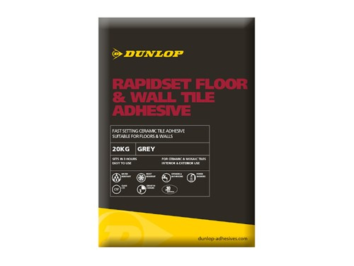 Dunlop Rapidset Floor and Wall Tile Adhesive 10kg [Grey]