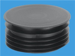McAlpine Drain Connector Black Cap 110mm