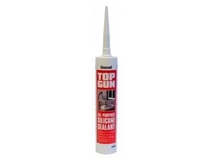 Top Gun Multi Purpose Silicone Sealant 310ml [White]