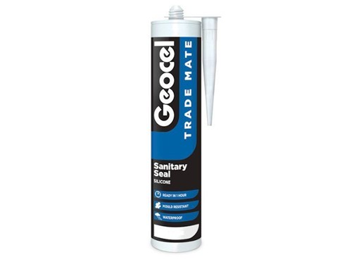 Trade Mate Sanitary Silicone Sealant 310ml [White]