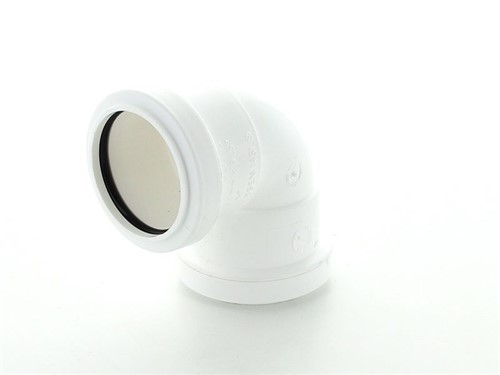 Push Fit Waste Knuckle Bend 90Deg 40mm [White]