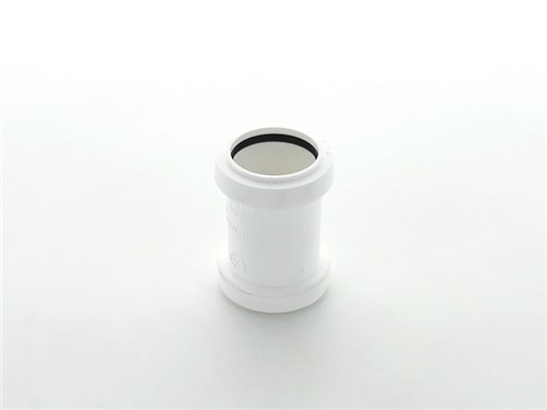 Push Fit Waste Straight Coupling 32mm [White]