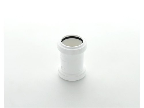 Push Fit Waste Straight Coupling 40mm [White]