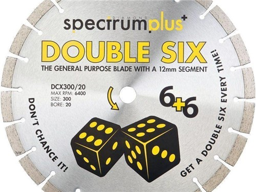 OX Spectrum Plus Double Six Diamond Blade [300mm]