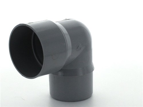 Round Downpipe Bend 68mm x 92.5Deg [Grey]
