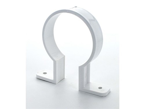 Round Downpipe Bracket 68mm [White]
