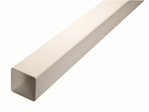 Square Downpipe Length 65mm x 4m [White]