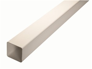 Square Downpipe Length 65mm x 2.5m [White]