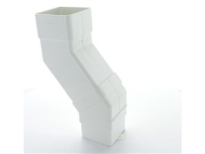 Square Downpipe Adjustable Offset 22 to 65mm [White]