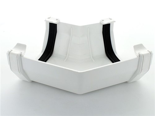 Square Gutter Angle 112mm x 135D [White]