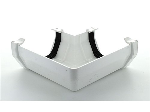 Square Gutter Angle 114mm x 90D [White]