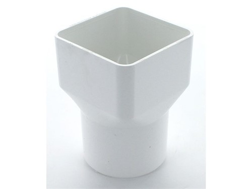 Square to Round Pipe Adaptor 65mm [White]