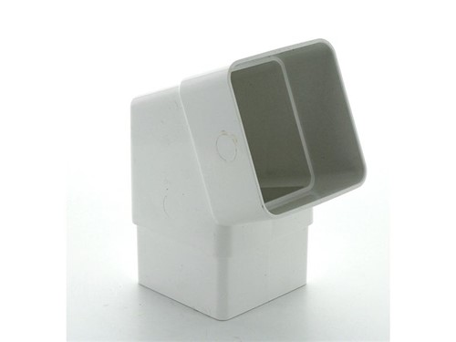 Square Downpipe Offset Bend 65mm x 112.5Deg [White]
