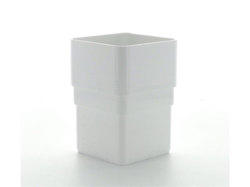 Square Downpipe Connector 65mm [White]