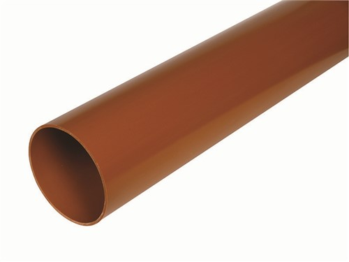 Underground Drainage Plain Ended Pipe [110mm x 3m]