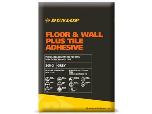 Dunlop Floor & Wall Plus Tile Adhesive [Grey]