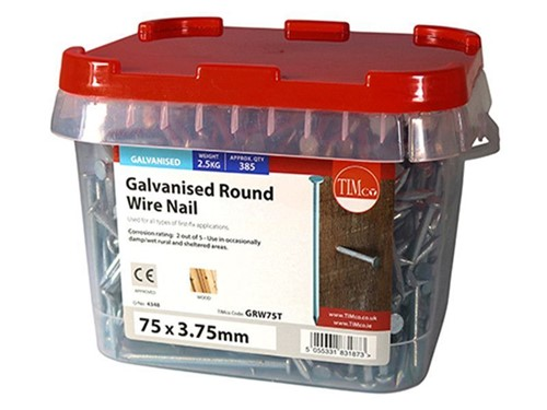 Round Wire Nail Galvanised 75mm x 3.75g 2.5kg