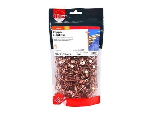 Copper Clout Nails 38mm x 2.65g 1kg