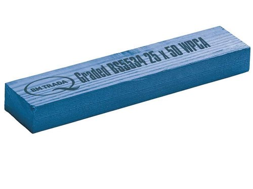 Graded & Treated Softwood Lath 25mm x 50mm [Blue]