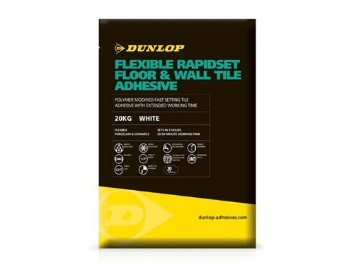Dunlop Flexible Rapidset Floor and Wall Tile Adhesive [White]