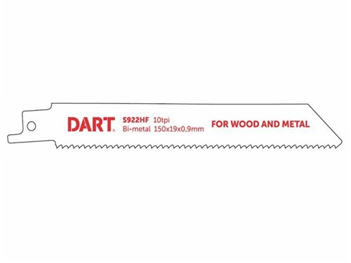 DART Metal Cutting Reciprocating Blade - Pack of 5