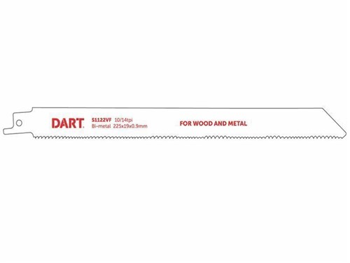 DART Wood and Metal Cutting Recip Blade - Pack of 5
