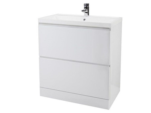 Turnbull Floor Standing 800mm Unit with Basin [White]