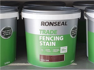 Ronseal - Trade Fencing Stain 9 Litre [Dark Oak]