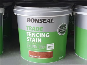 Ronseal - Trade Fencing Stain 5 Litre [Medium Oak]