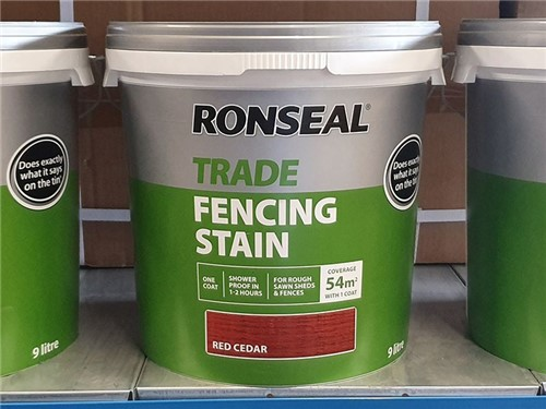 Ronseal - Trade Fencing Stain 5 Litre [Red Cedar]