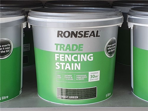Ronseal - Trade Fencing Stain 9 Litre [Forest Green]