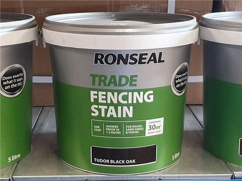 Ronseal - Trade Fencing Stain 5 Litre [Tudor Black]