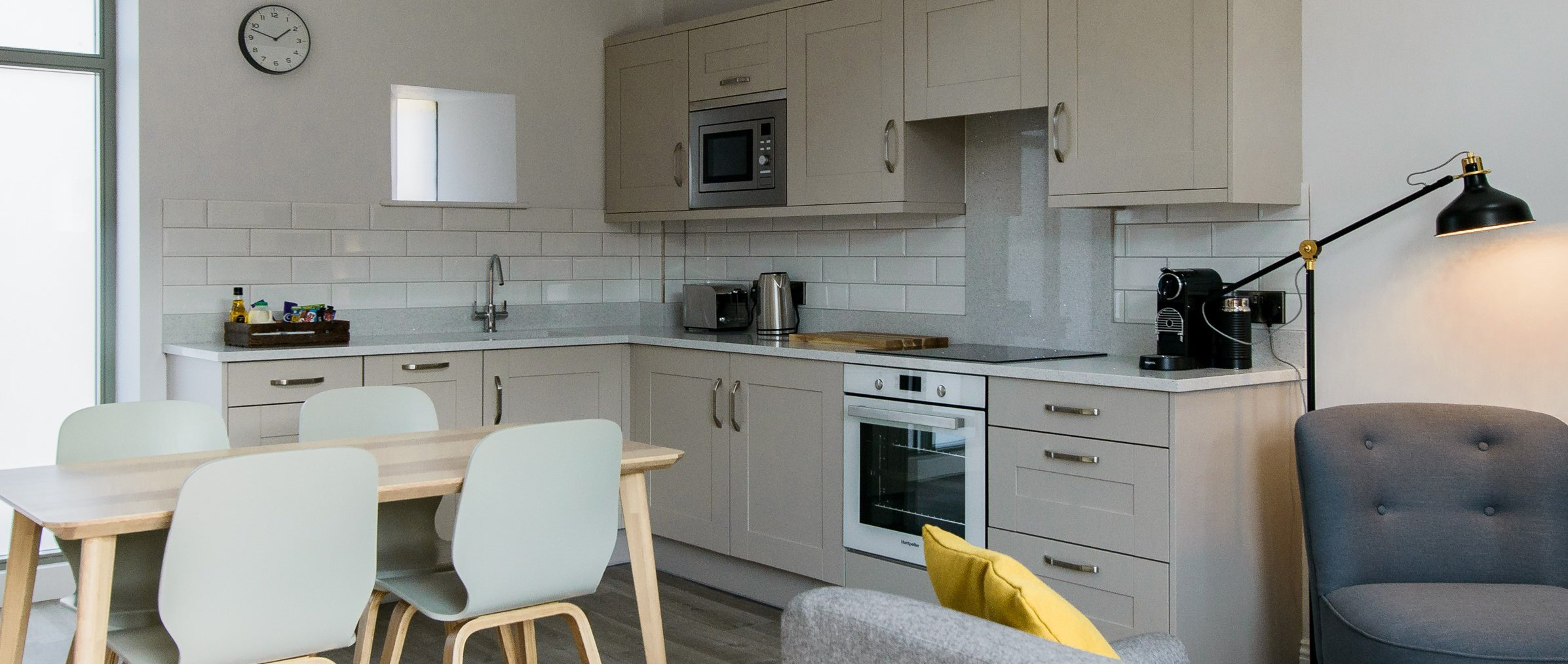 Shaker kitchens for Barn Conversion apartments
