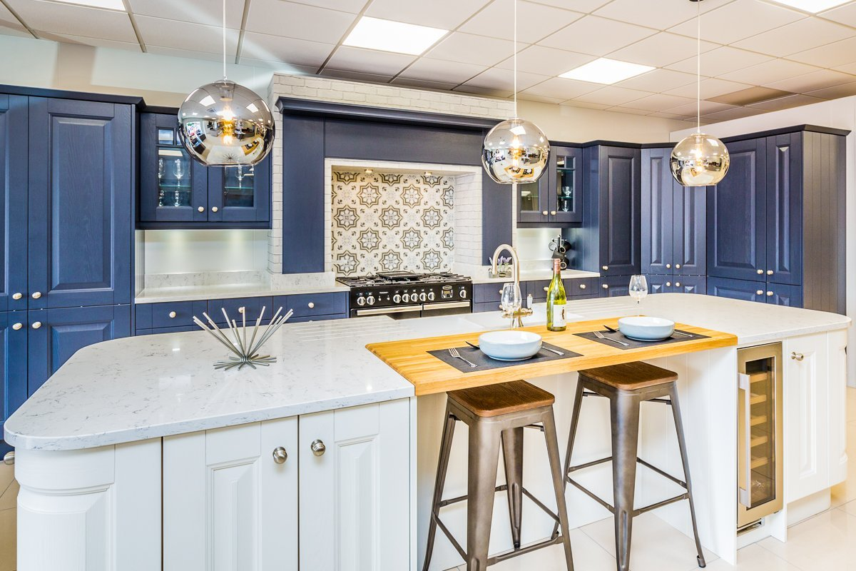 Painted Blue kitchen from Symphony Kitchens