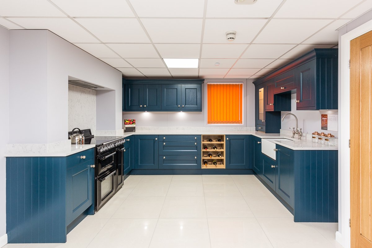 Traditional Shaker kitchen in Bold Navy