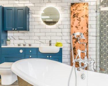 Bathroom Ideas - Bold, copper effect radiator
