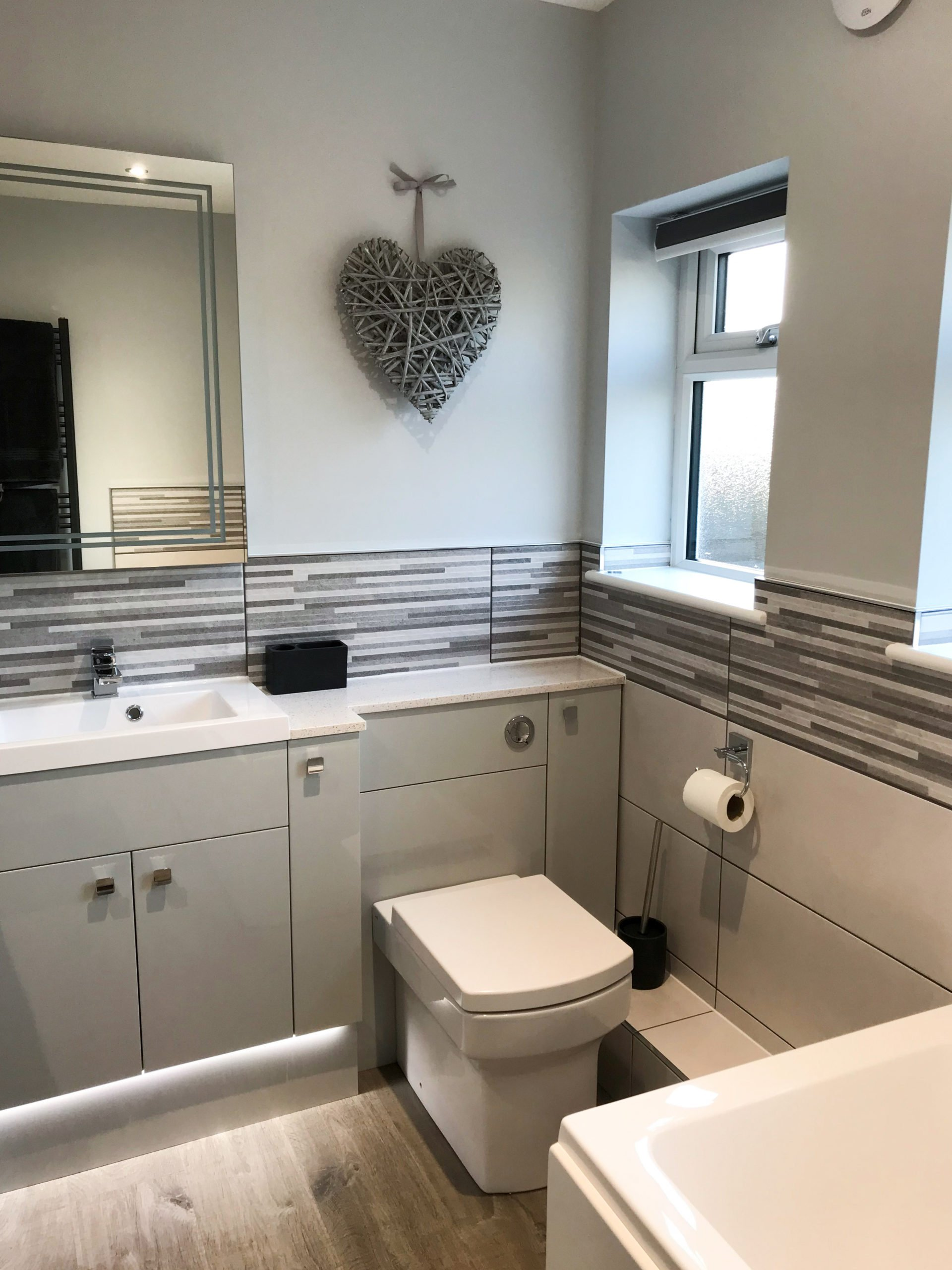 Smart modern bathroom