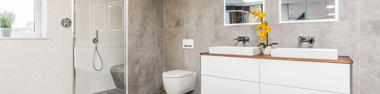 Modern Bathroom Suite on display at our Brigg Showroom
