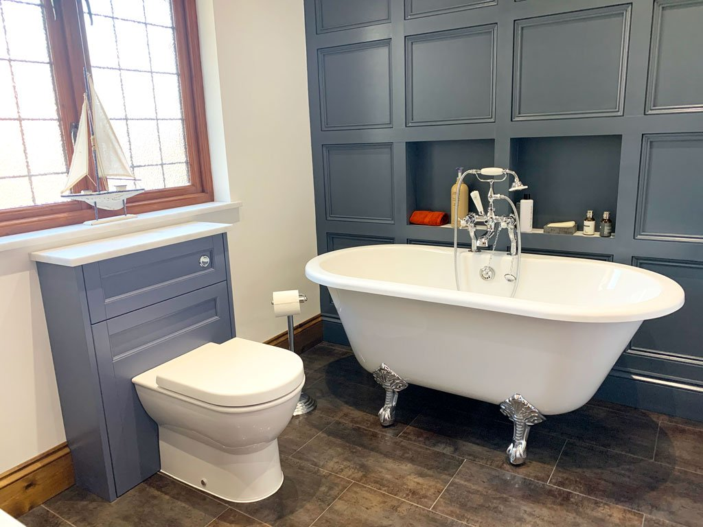 Traditional Paneled Bathroom