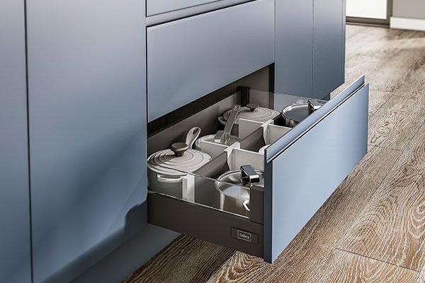 Symphony Kitchen - New York Paint To Order Range Indigo Kitchen cabinets - storage ideas for small kitchens