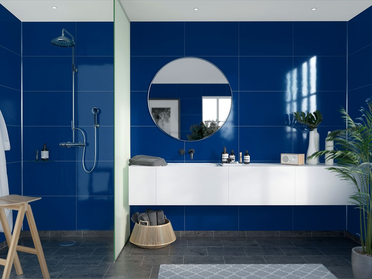 A great bathroom idea for a dramatic refit from Fibo